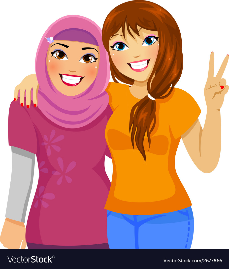 Muslimfriend small vector | Price: 1 Credit (USD $1)