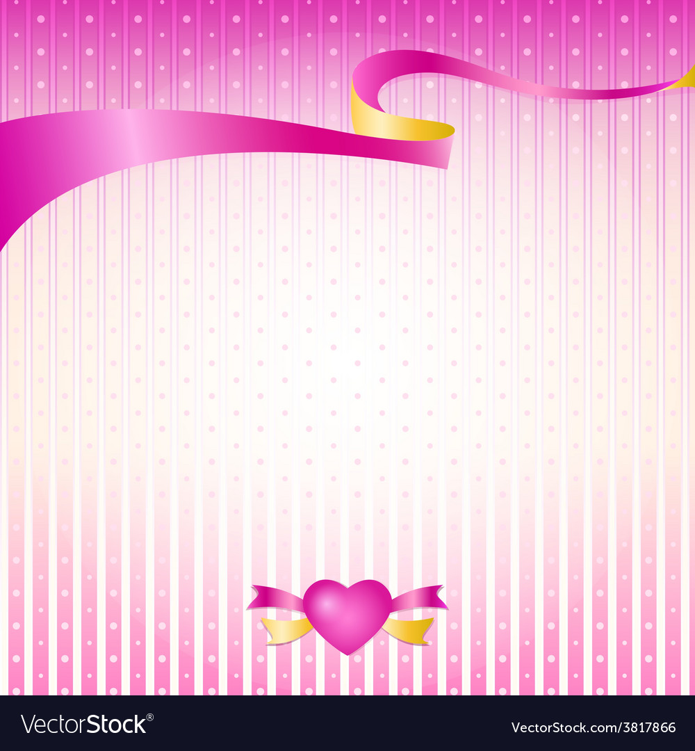 Pink silk premium ribbon vector | Price: 1 Credit (USD $1)