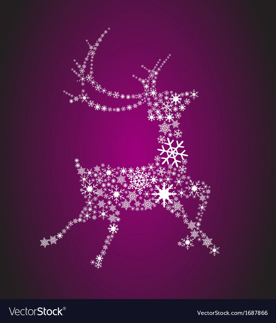 Snowflake reindeer vector | Price: 1 Credit (USD $1)