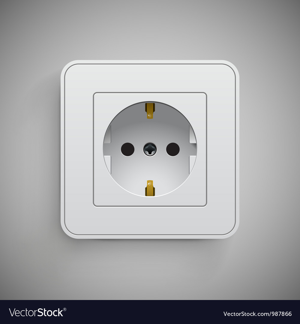 Socket  electrical outlet vector | Price: 1 Credit (USD $1)