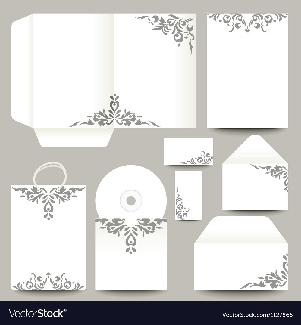 Stationery with patterns vector | Price: 1 Credit (USD $1)