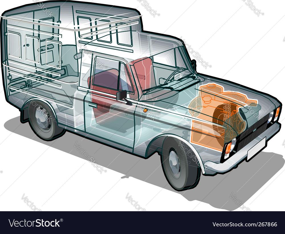 Van info graphics cutaway vector | Price: 3 Credit (USD $3)