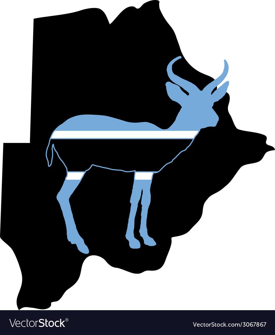 Botswana antelope vector | Price: 1 Credit (USD $1)