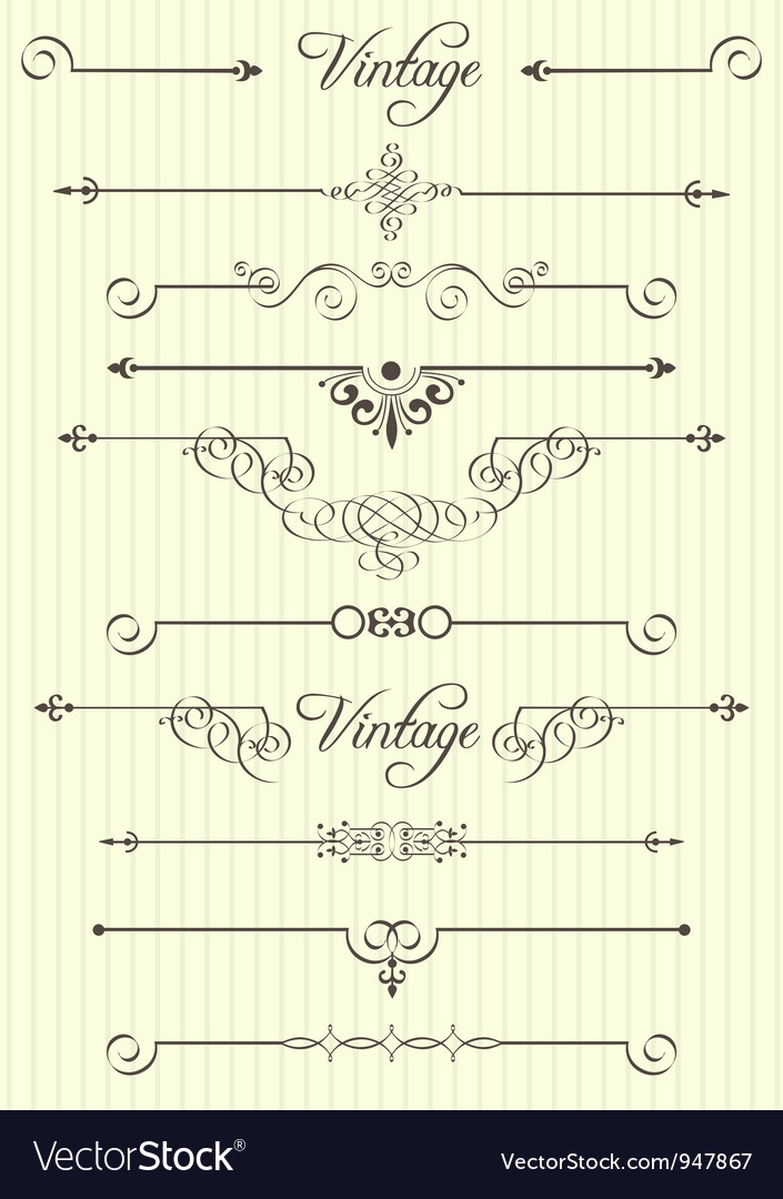 Calligraphic design elements and page decor vector | Price: 1 Credit (USD $1)