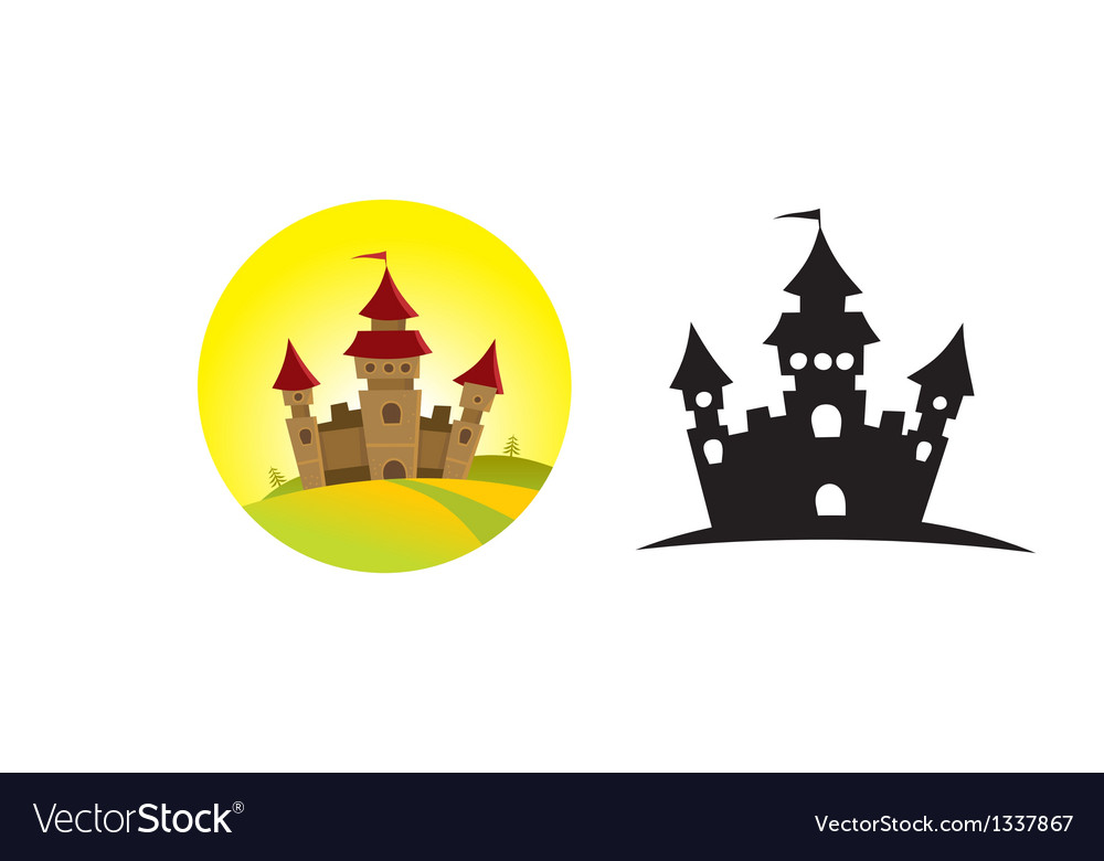 Castle on the hill vector | Price: 1 Credit (USD $1)