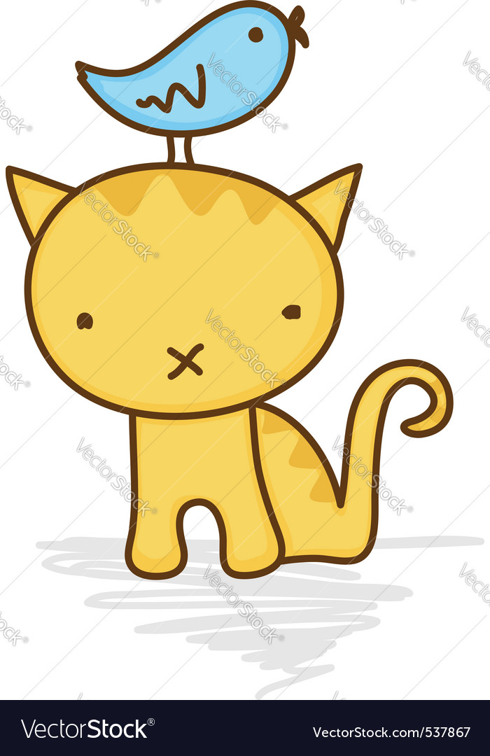 Cute cat vector | Price: 1 Credit (USD $1)