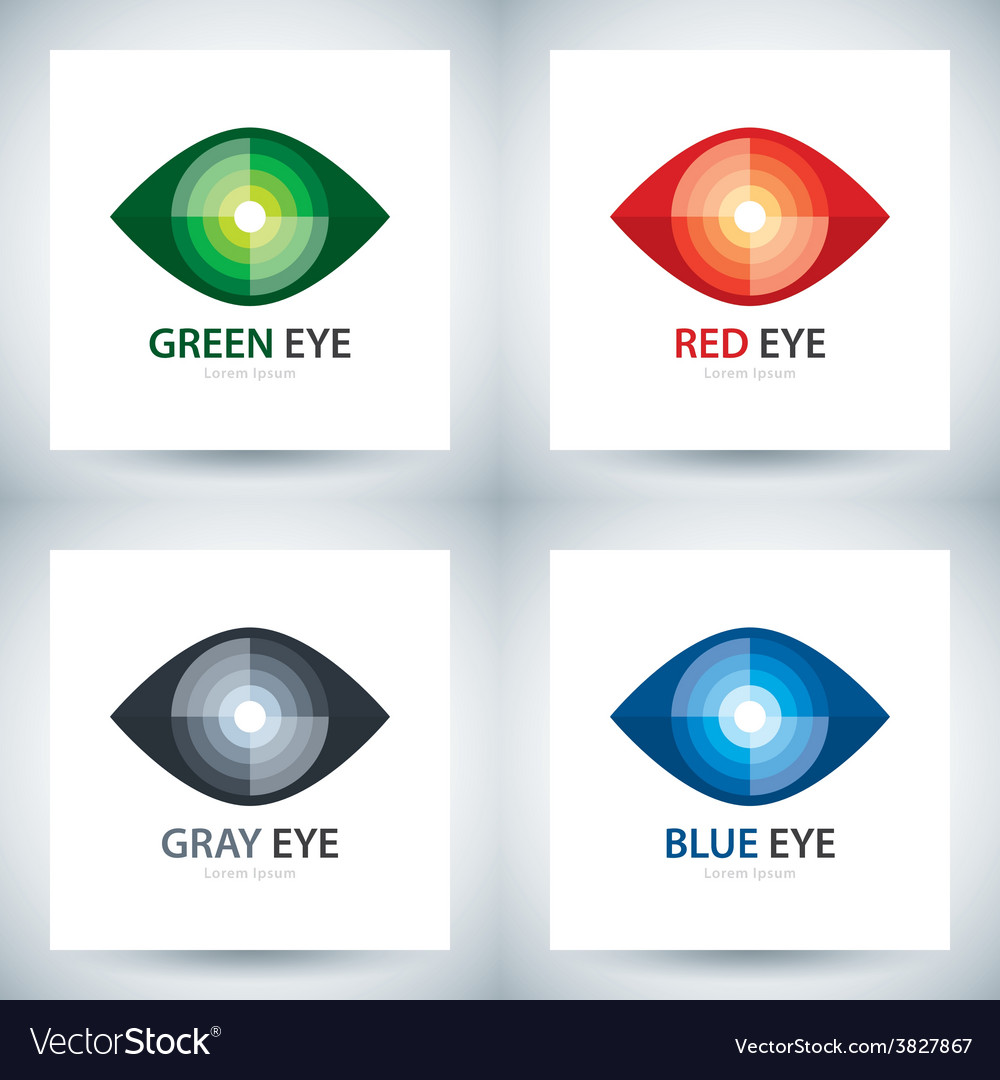 Cyber eye icon set vector | Price: 1 Credit (USD $1)