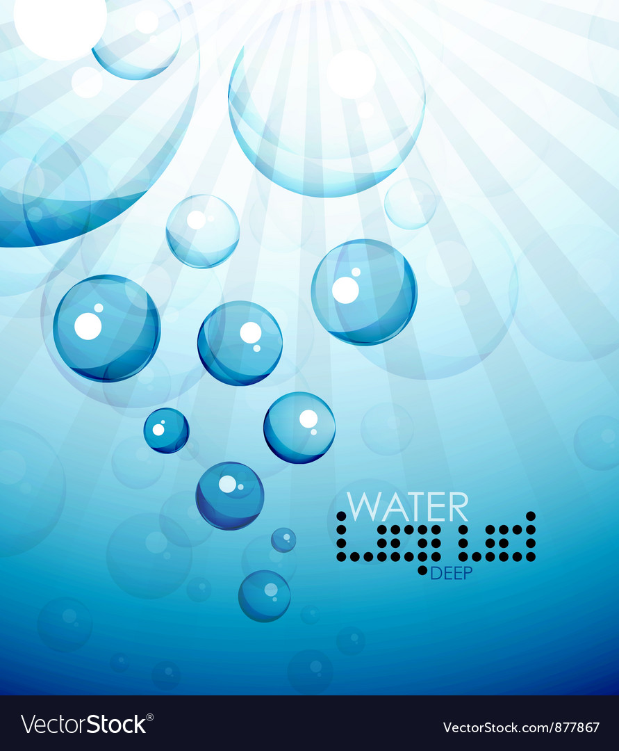 Deep water bubbles background vector | Price: 1 Credit (USD $1)