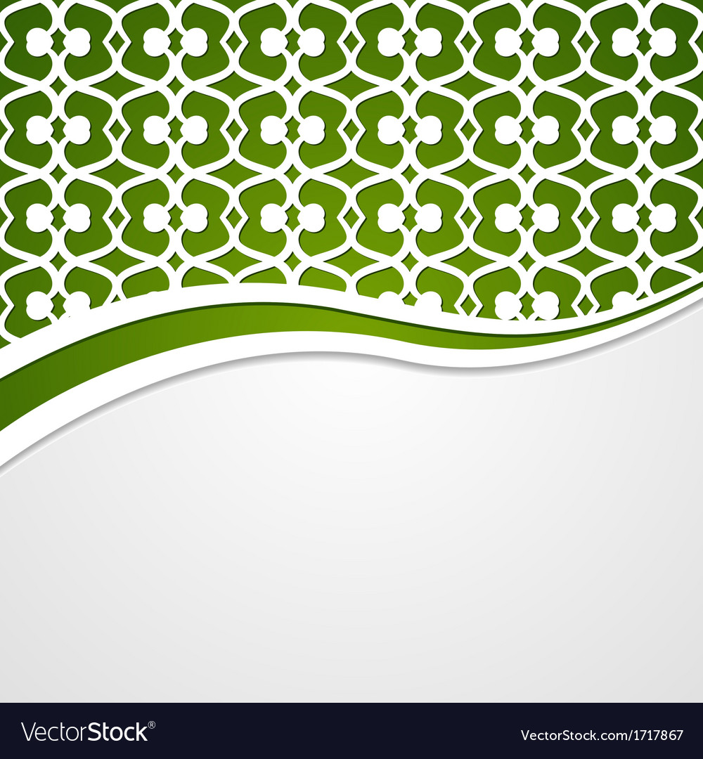 Green patterned background vector | Price: 1 Credit (USD $1)