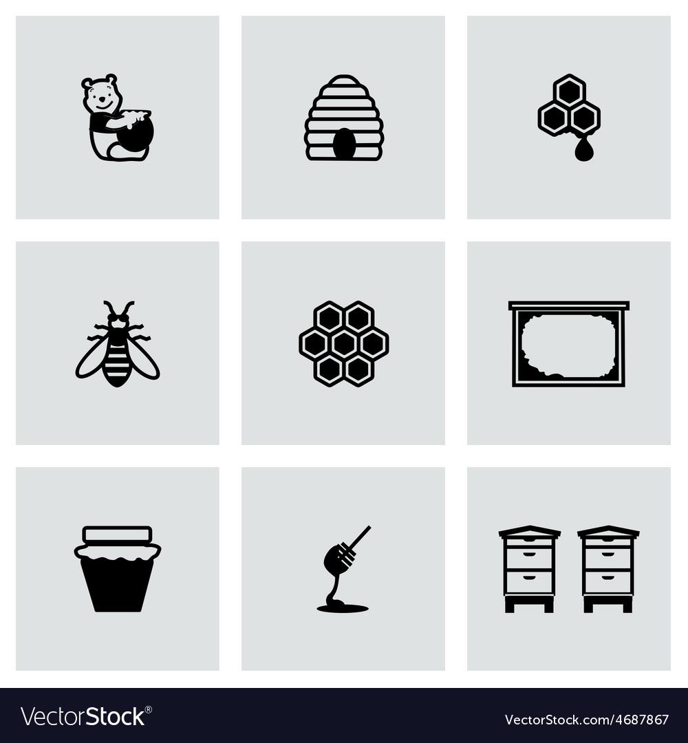 Honey icon set vector | Price: 1 Credit (USD $1)