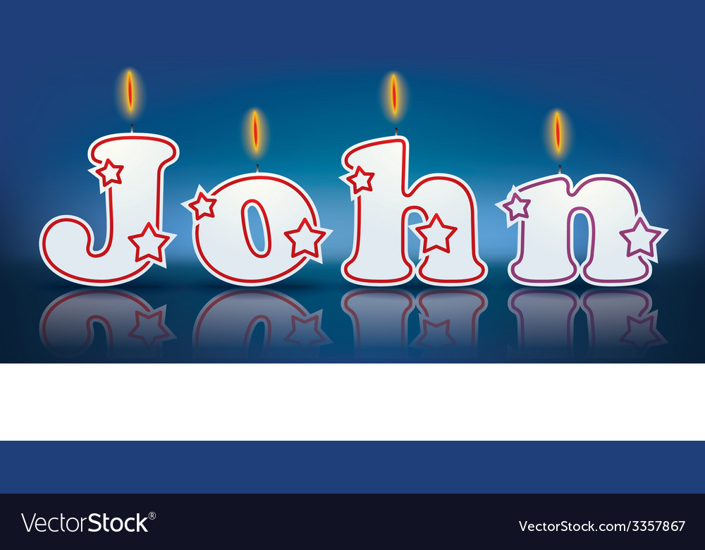 John written with burning candles vector | Price: 1 Credit (USD $1)