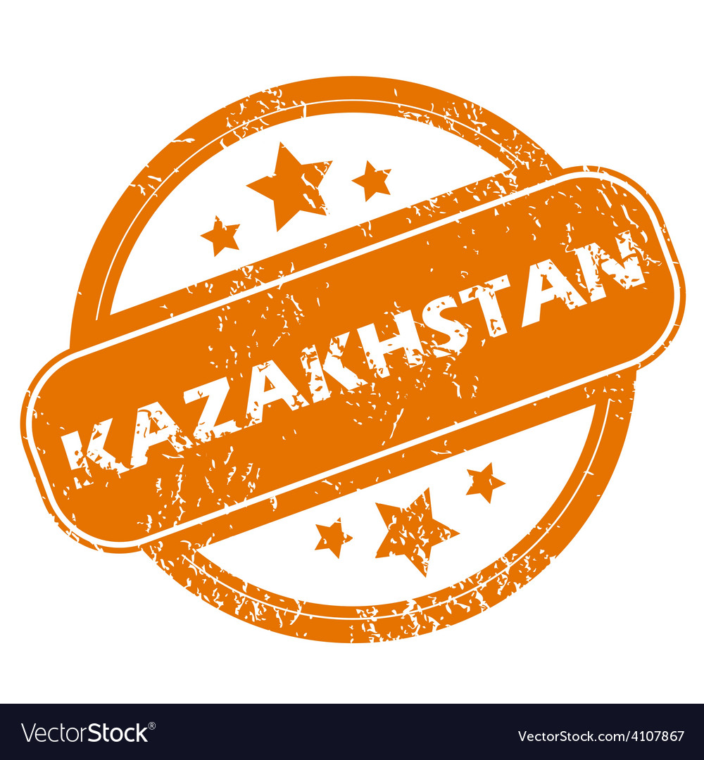 Kazakhstan grunge icon vector | Price: 1 Credit (USD $1)