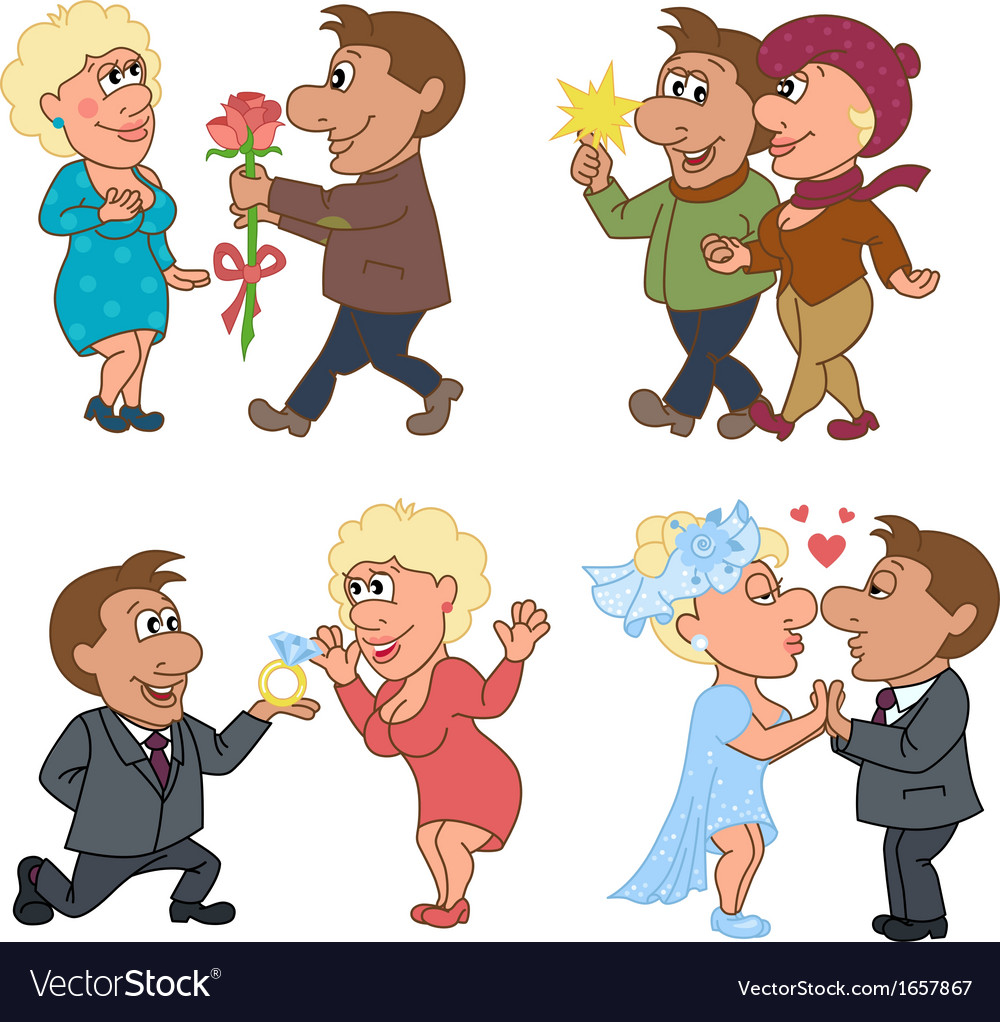 Love story of a man and a woman vector