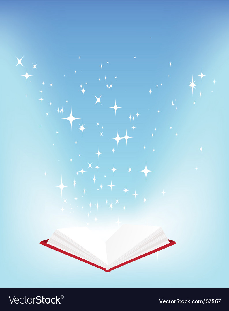 Open book stars vector | Price: 1 Credit (USD $1)