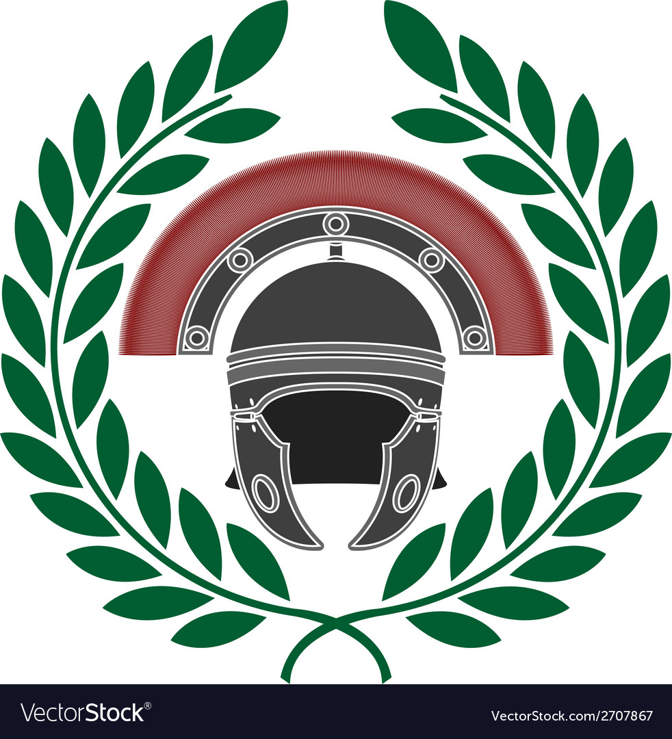 Roman helmet and wreath stencil vector | Price: 1 Credit (USD $1)