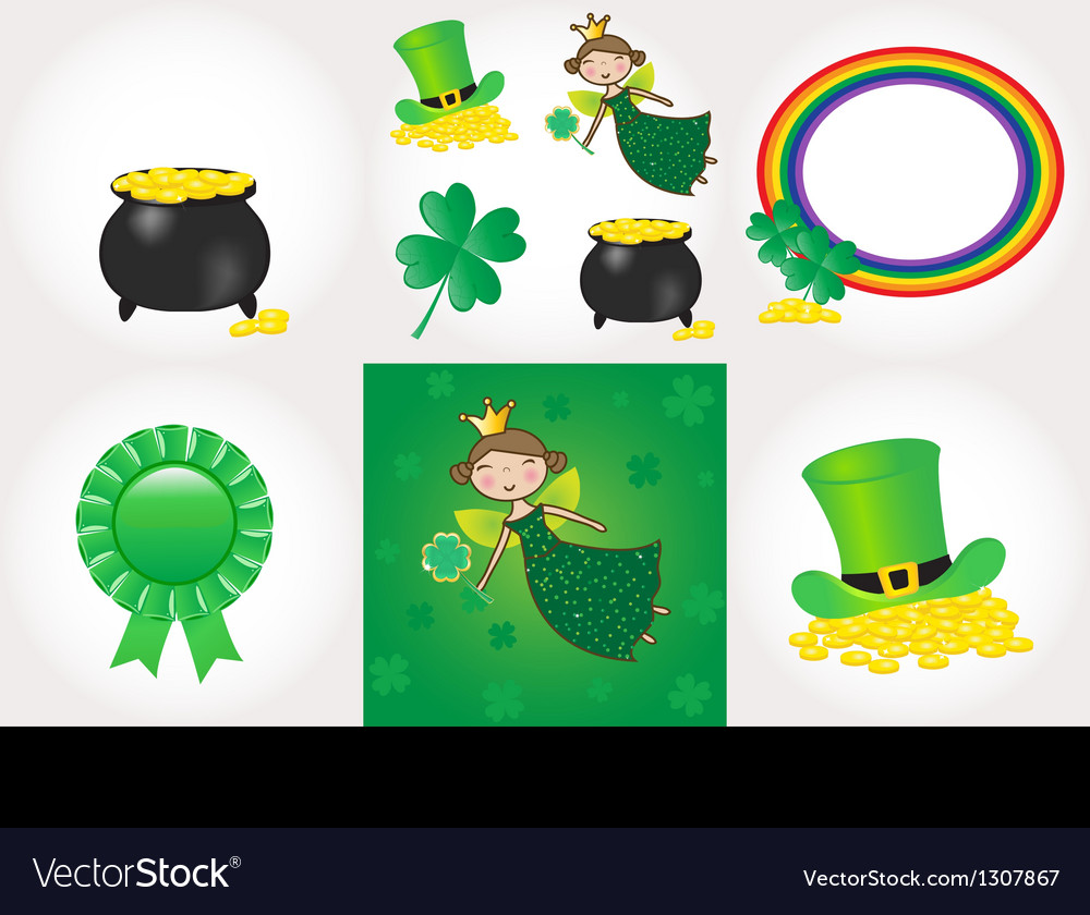 St patrick day set vector | Price: 1 Credit (USD $1)