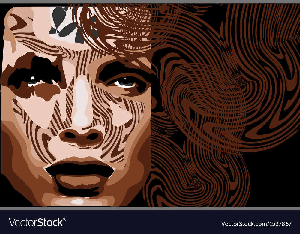 Woman face vector   Price: 1 Credit (USD $1)