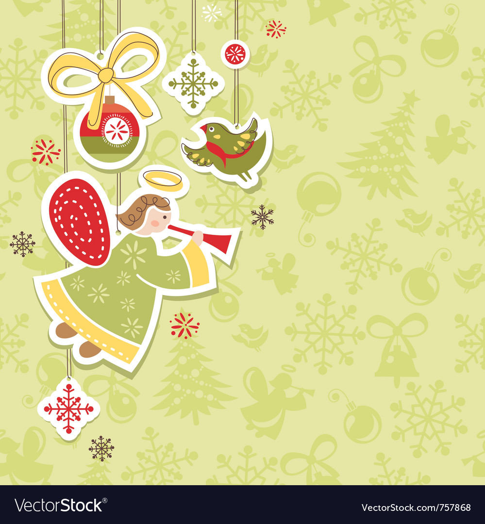 Abstract christmas lovely cute card vector | Price: 3 Credit (USD $3)