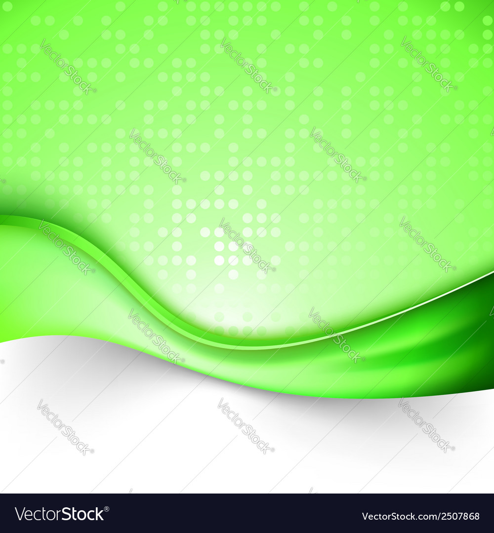 Bright green swoosh line background template vector | Price: 1 Credit (USD $1)