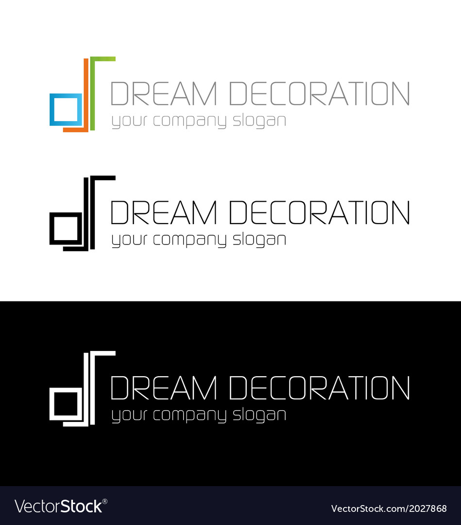 Dream decoration logo template vector | Price: 1 Credit (USD $1)