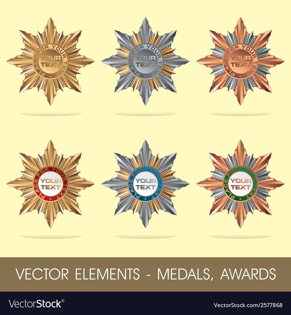 Elements - medals awards vector | Price: 1 Credit (USD $1)
