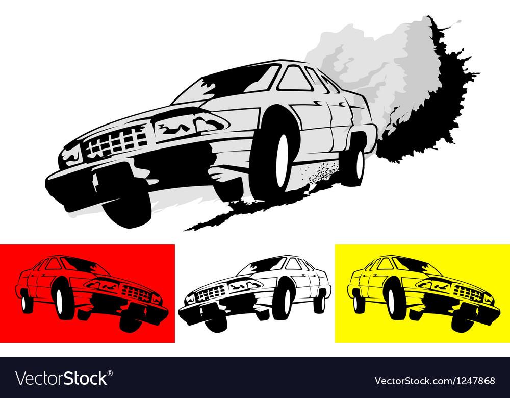 Fast car vector | Price: 1 Credit (USD $1)