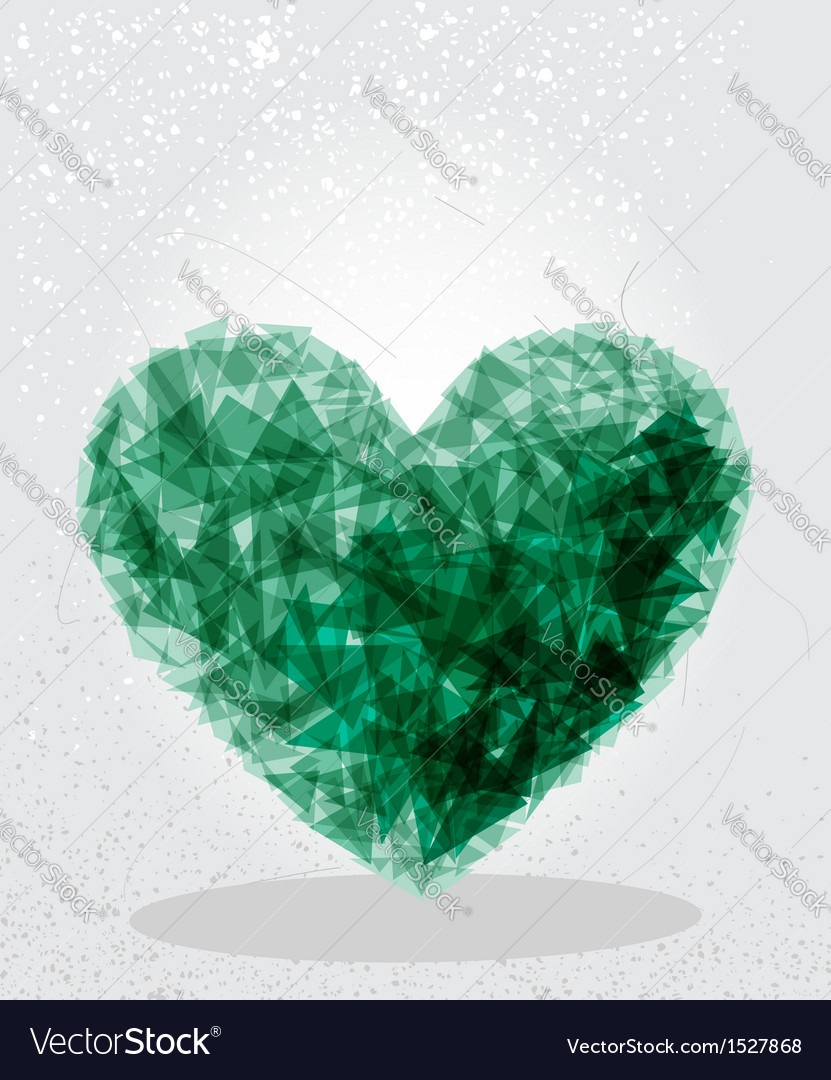Green heart geometric shape vector | Price: 1 Credit (USD $1)
