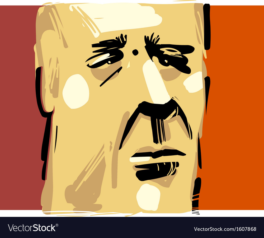 Man face artistic drawing vector | Price: 1 Credit (USD $1)