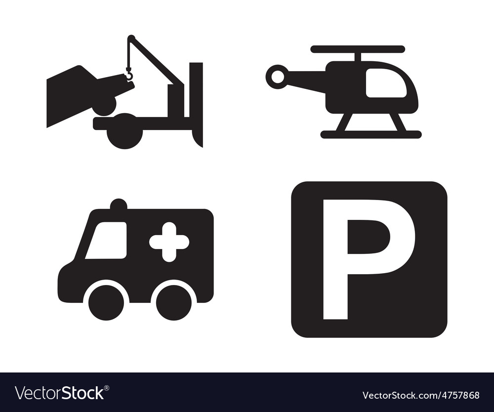 Parking icons vector | Price: 1 Credit (USD $1)