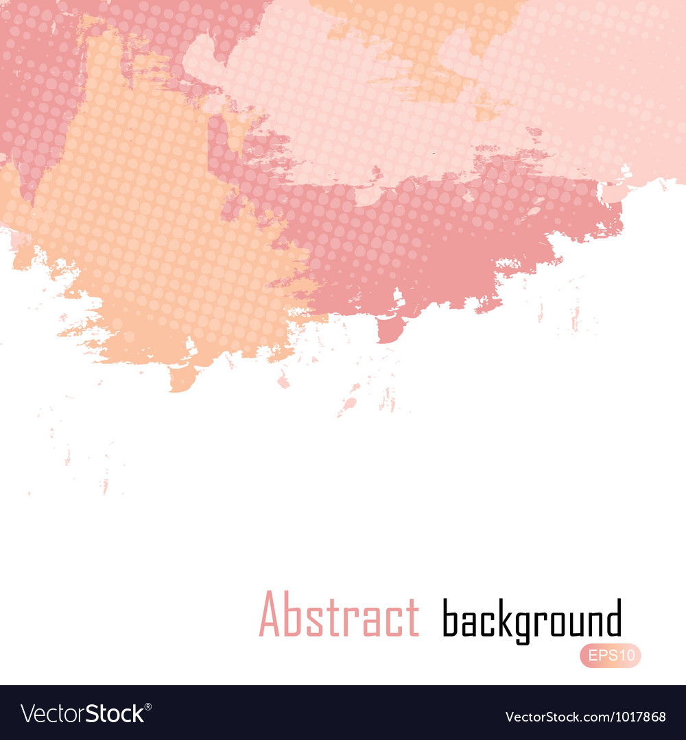 Pink abstract paint splashes  background wit vector | Price: 1 Credit (USD $1)