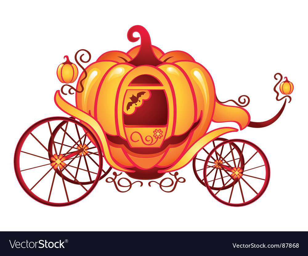 Pumpkin carriage vector | Price: 1 Credit (USD $1)