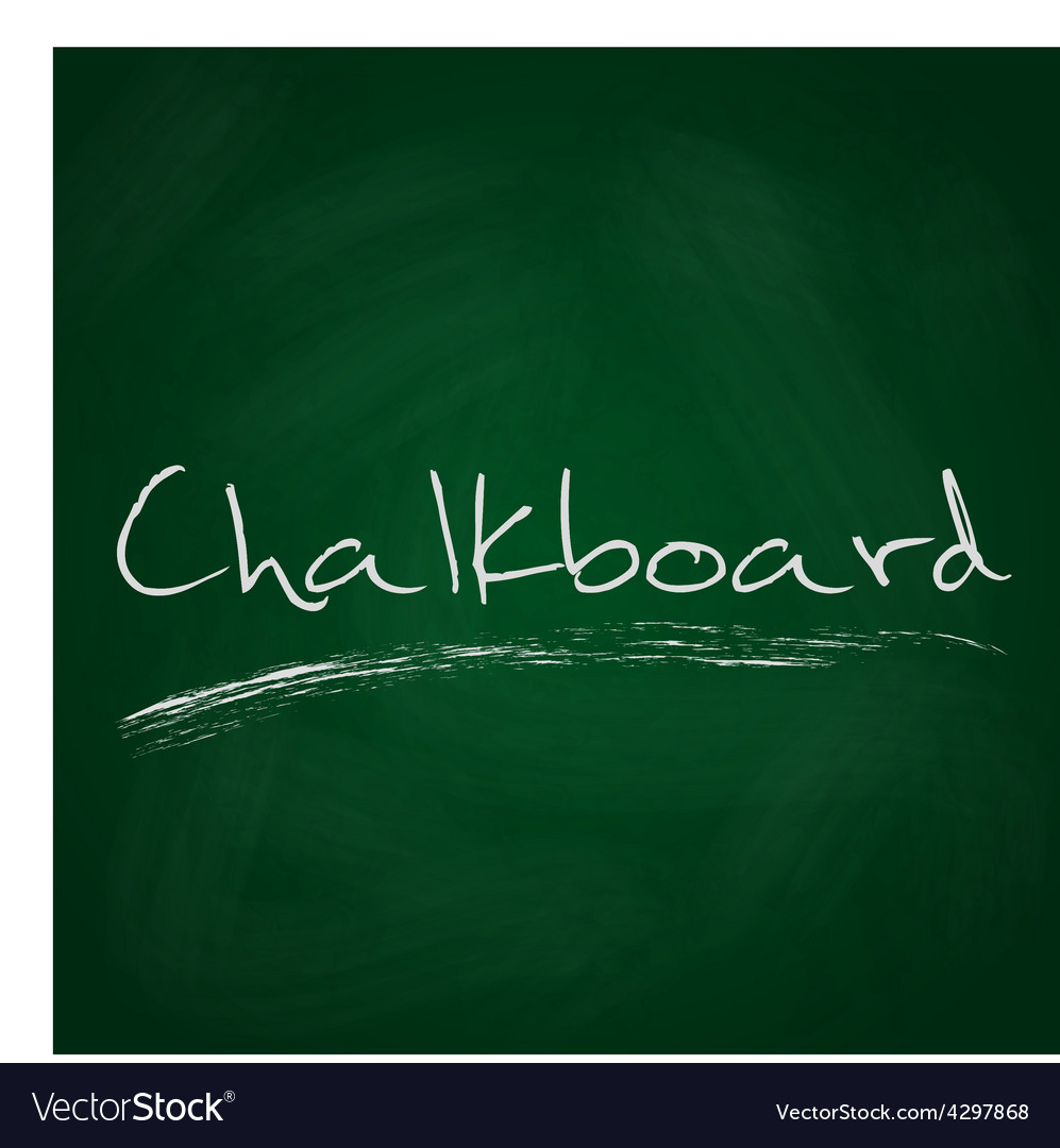 Retro dark green chalkboard background with text vector | Price: 1 Credit (USD $1)