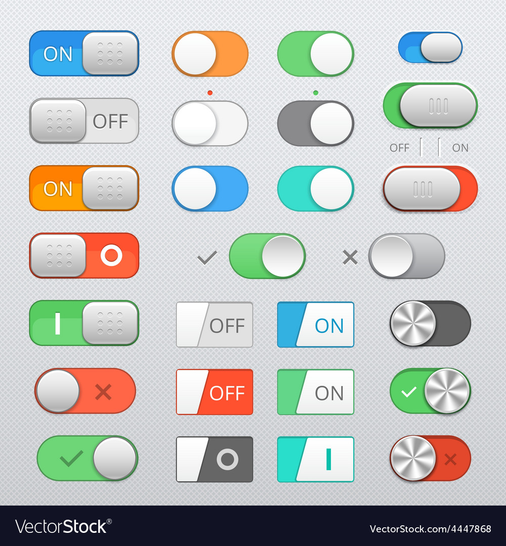 Toggle switch set vector | Price: 1 Credit (USD $1)
