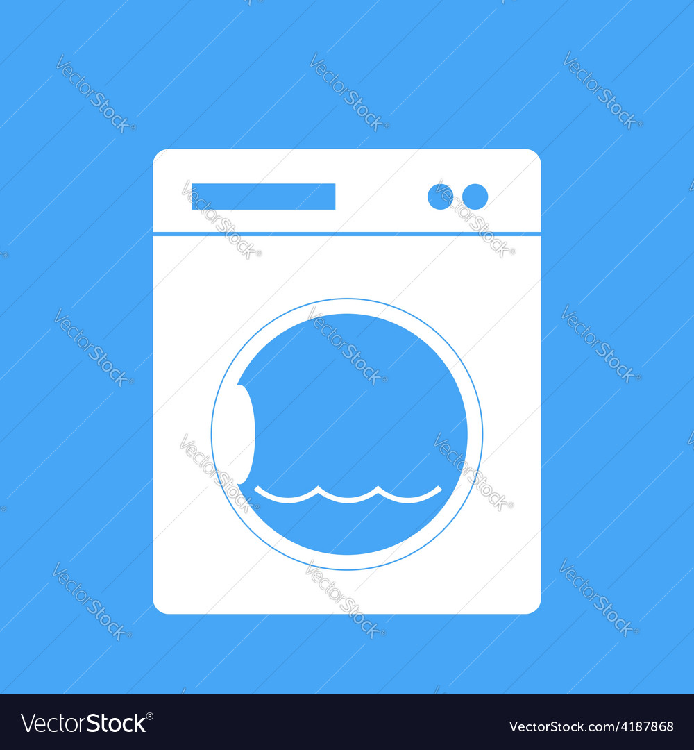 Washing machine on a blue background vector | Price: 1 Credit (USD $1)