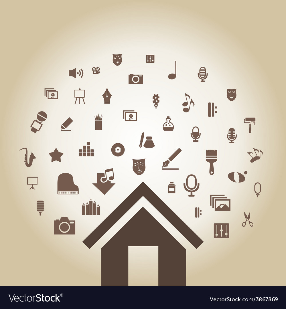 Art the house2 vector | Price: 1 Credit (USD $1)