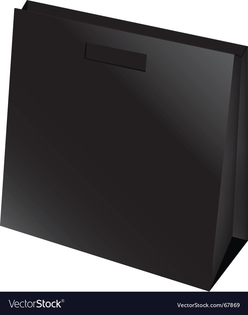 Black bag vector | Price: 1 Credit (USD $1)