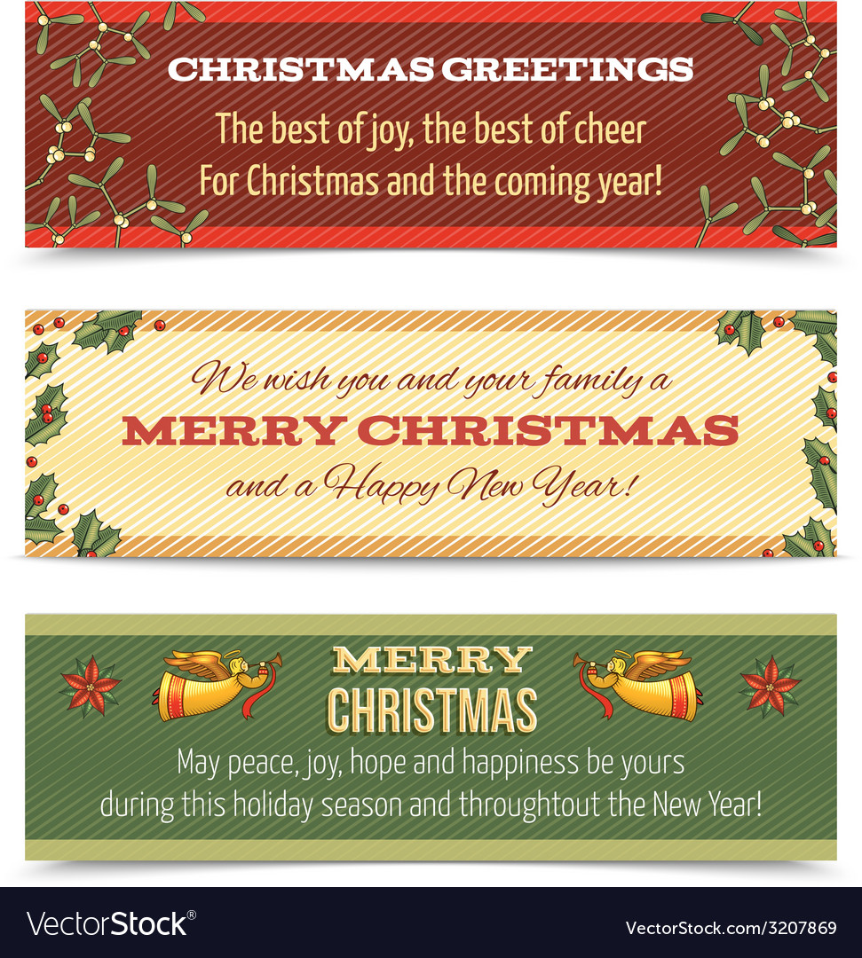 Christmas banner horizontal vector | Price: 1 Credit (USD $1)