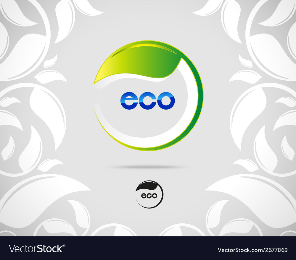 Eco leaf logo vector | Price: 1 Credit (USD $1)