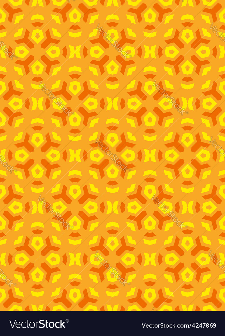 Geometric abstract colorful mosaic yellow orange vector | Price: 1 Credit (USD $1)