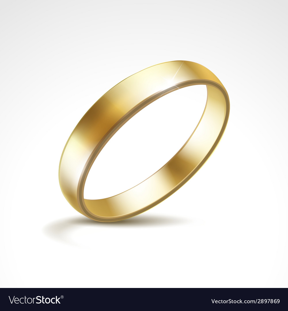 Gold wedding ring isolated vector | Price: 1 Credit (USD $1)