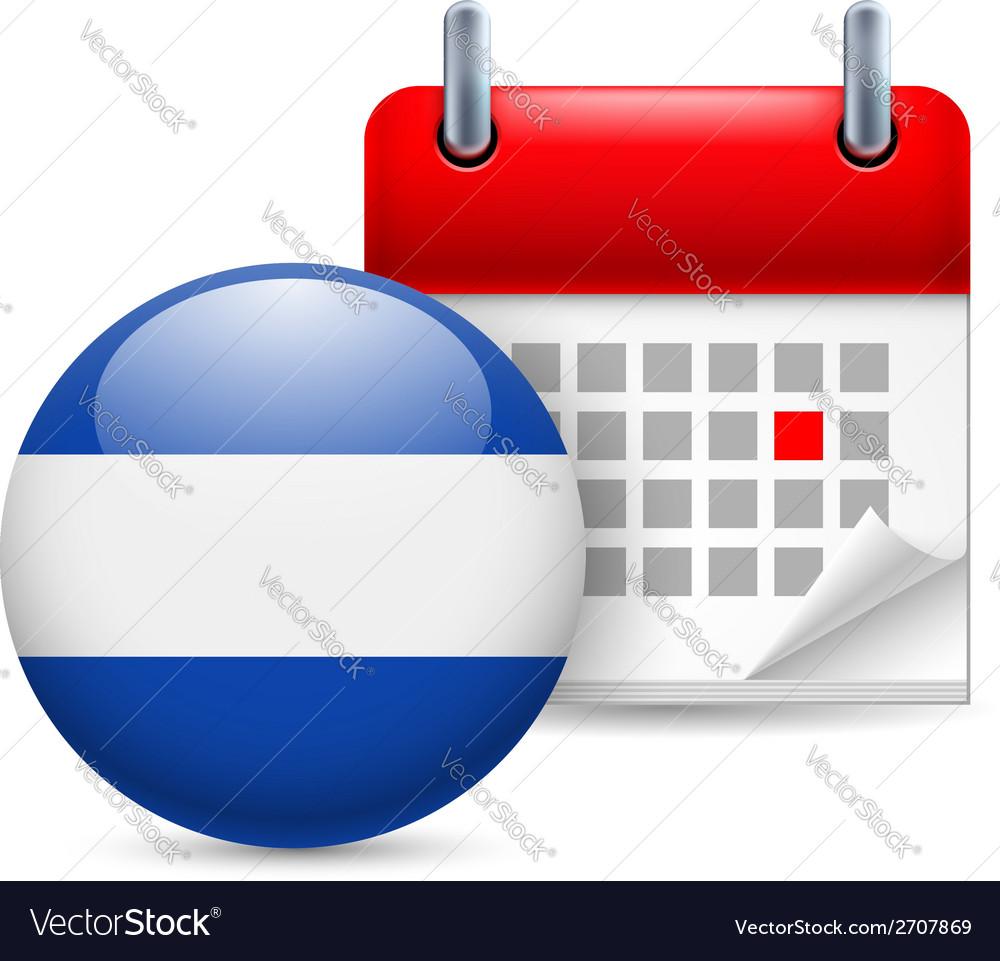 Icon of national day in el salvador vector | Price: 1 Credit (USD $1)