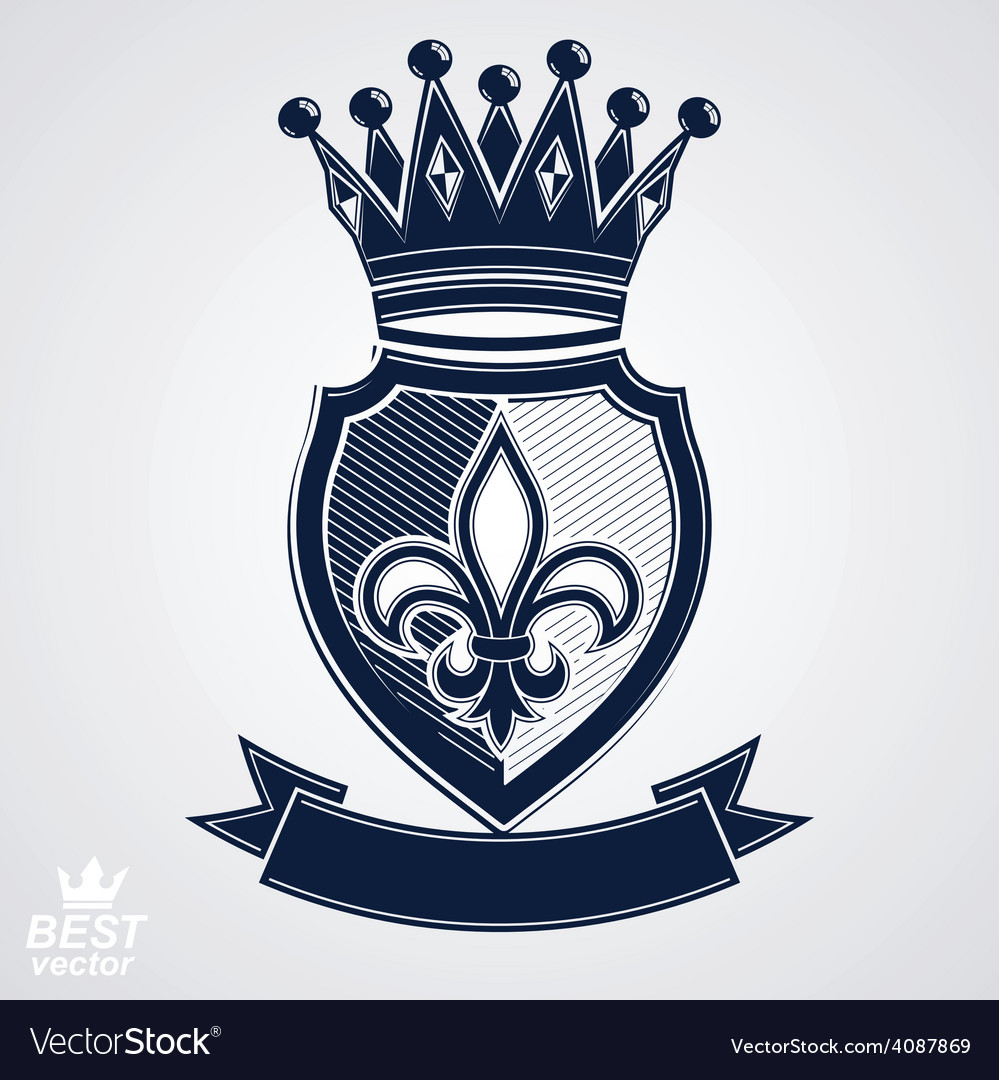 Imperial insignia royal shield with decorative vector | Price: 1 Credit (USD $1)