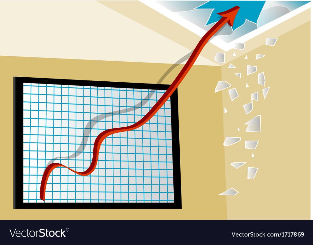 Line graph vector | Price: 1 Credit (USD $1)