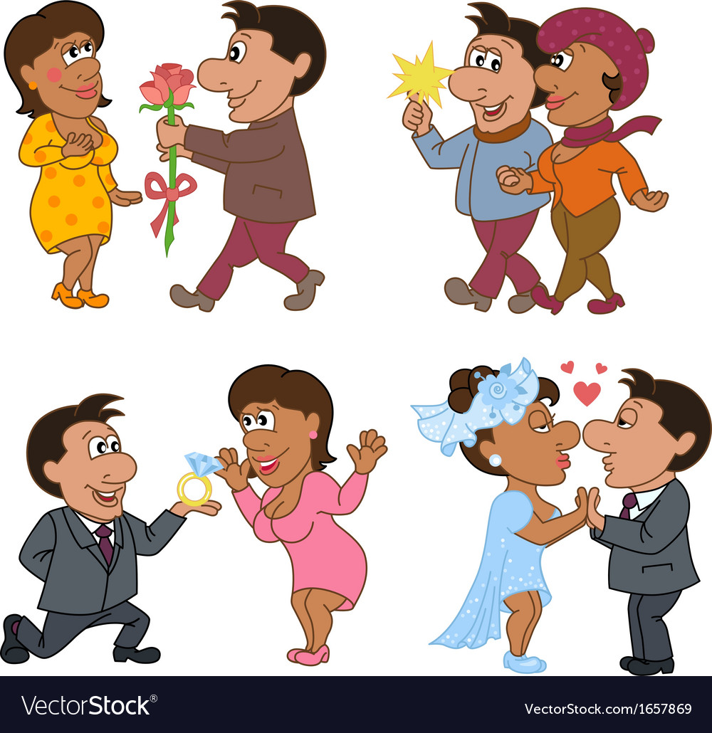 Love story of a man and woman vector