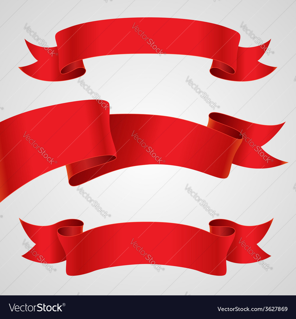Red ribbons vector   Price: 1 Credit (USD $1)
