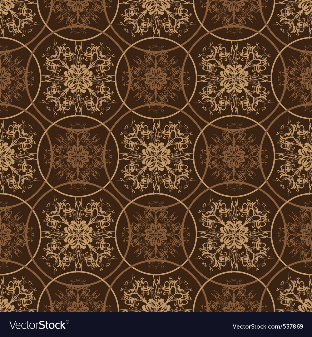 Retro styled seventies wallpaper seamless fit back vector | Price: 1 Credit (USD $1)