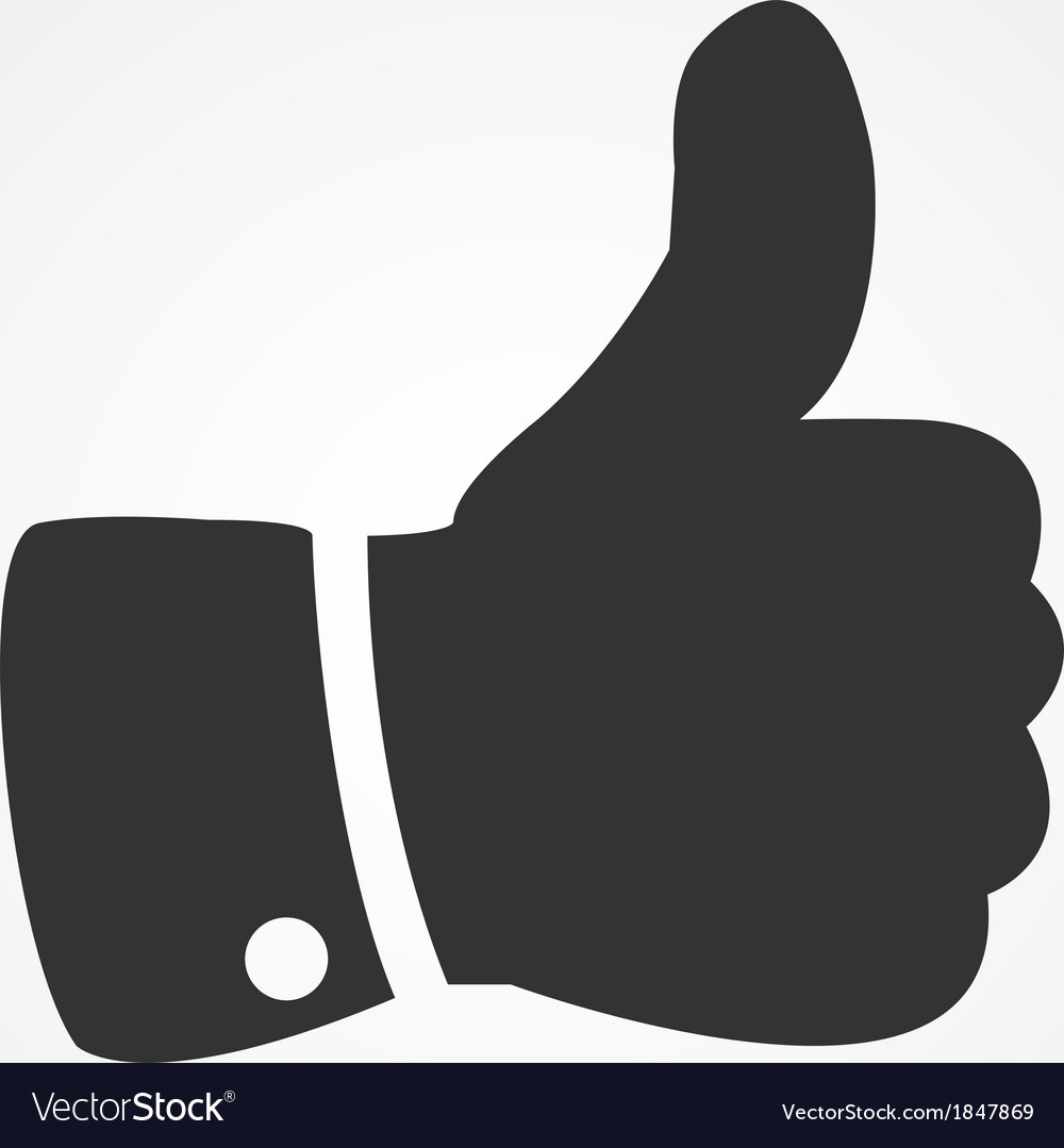 Thumb up icon flat design vector | Price: 1 Credit (USD $1)