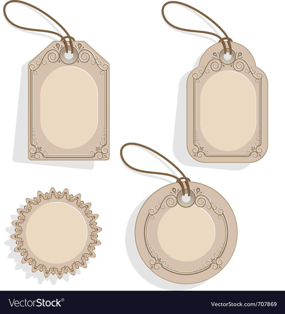 Vintage price tag vector | Price: 1 Credit (USD $1)