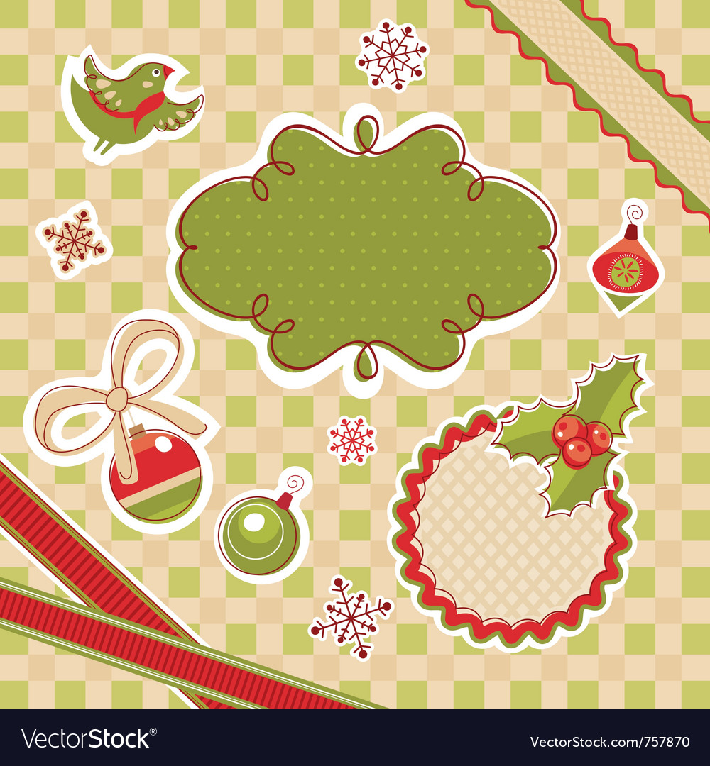 Abstract cute christmas design elements vector | Price: 3 Credit (USD $3)