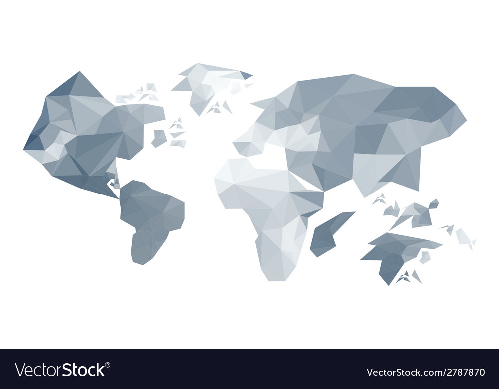 Abstract origami world map vector | Price: 1 Credit (USD $1)